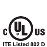 UL ITE listed 802 D