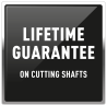 Lifetime guarantee on cutting shatfs